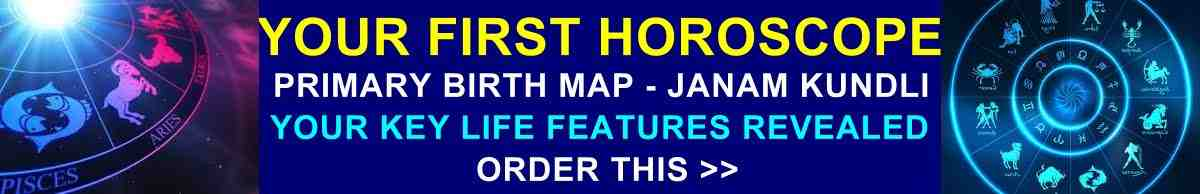 Get it now! Your First Horoscope includes all basic required details!